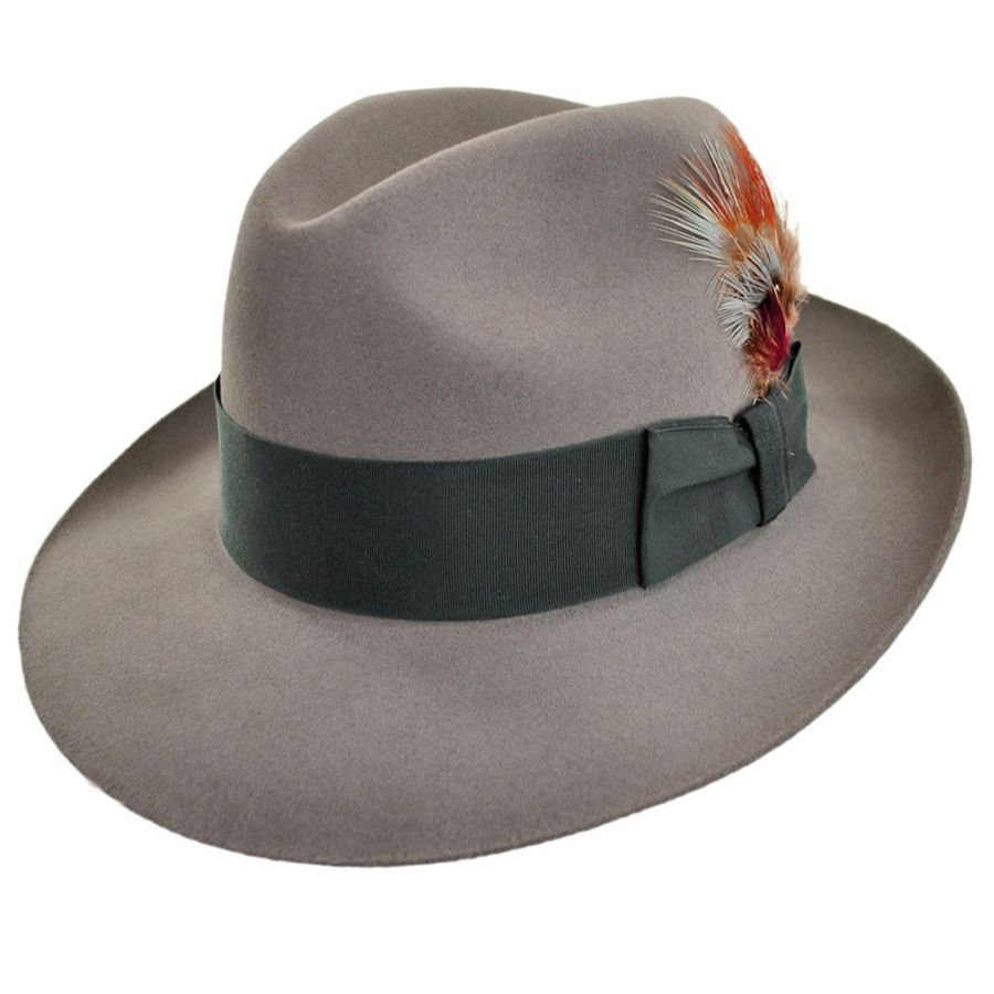 Stetson Temple Fur Felt Fedora Hat All Fedoras 611da850c84b