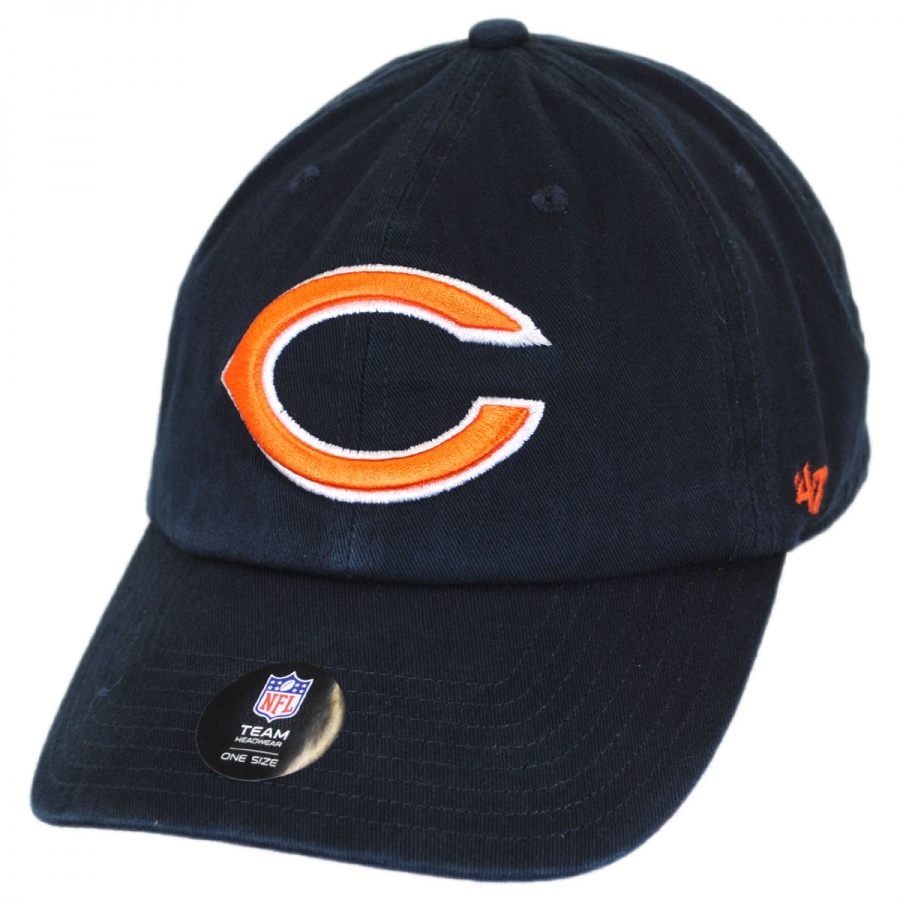 7f911004227e7 Chicago Bears NFL Clean Up Strapback Baseball Cap Dad Hat alternate view 1