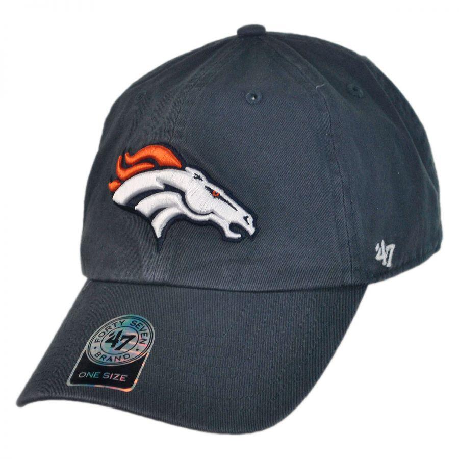 47 Brand Denver Broncos NFL Clean Up Strapback Baseball Cap Dad Hat NFL Football Caps