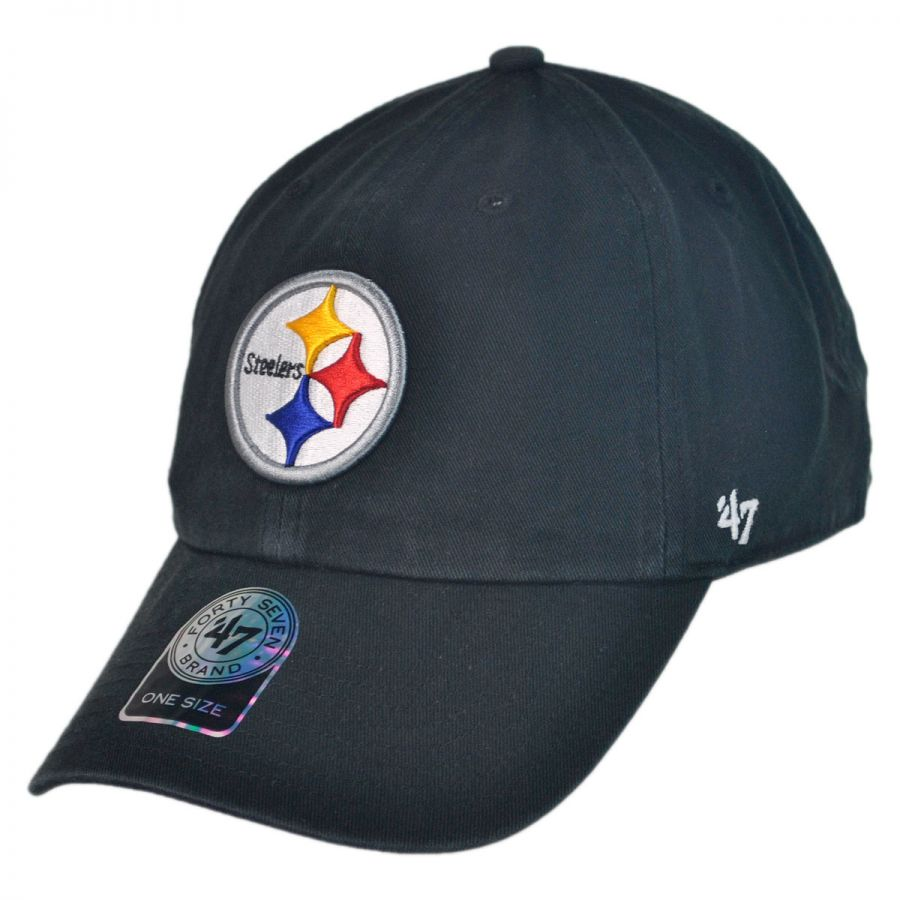 separation shoes 814ad 255d8 47 Brand Pittsburgh Steelers NFL Clean Up Strapback Baseball Cap Dad Hat