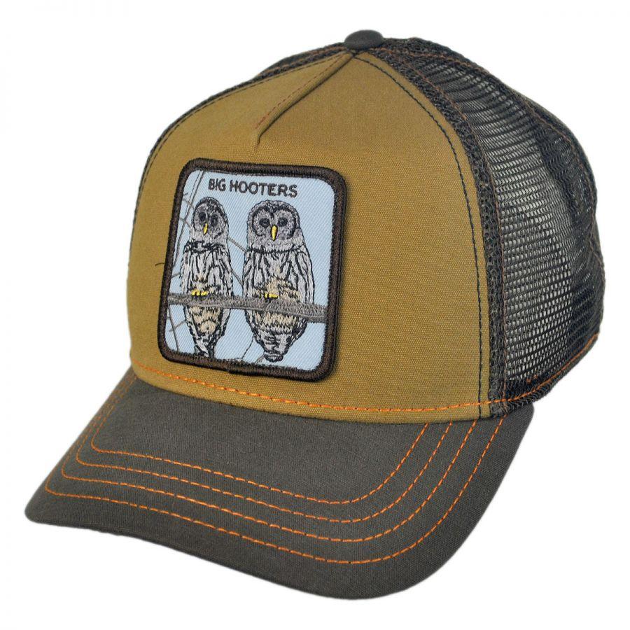 86034efb7fbcf Goorin Bros Hooters Mesh Trucker Snapback Baseball Cap Snapback Hats