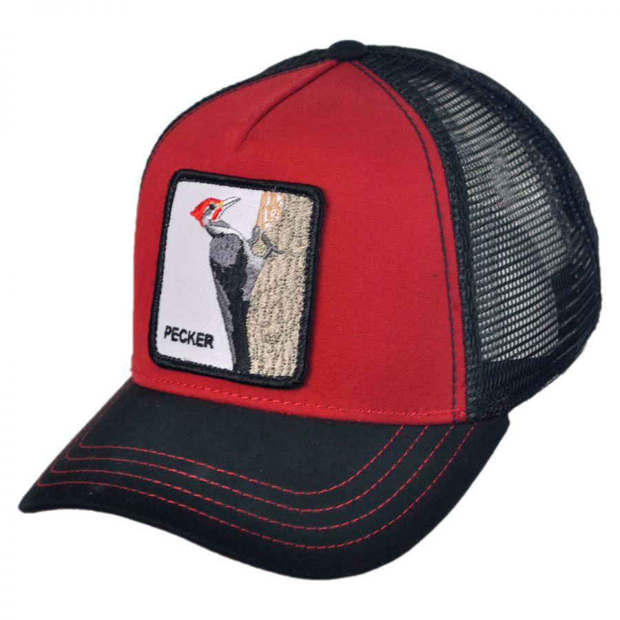 ab06e29e93f Goorin Bros Woody Wood Mesh Trucker Snapback Baseball Cap Snapback Hats