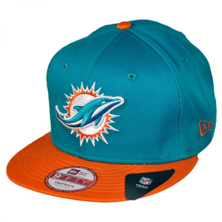New Era Miami Dolphins NFL 9Fifty Snapback Baseball Cap NFL Football ... c755d809036