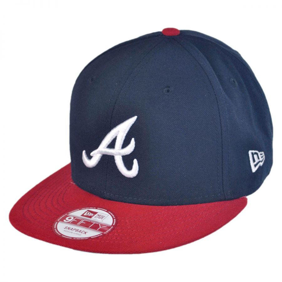 new era atlanta braves mlb 9fifty snapback baseball cap. Black Bedroom Furniture Sets. Home Design Ideas