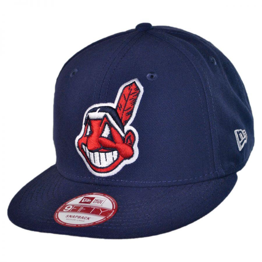 New Era Cleveland Indians MLB 9Fifty Snapback Baseball Cap MLB Baseball Caps