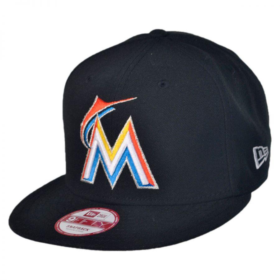 new era miami marlins mlb 9fifty snapback baseball cap mlb
