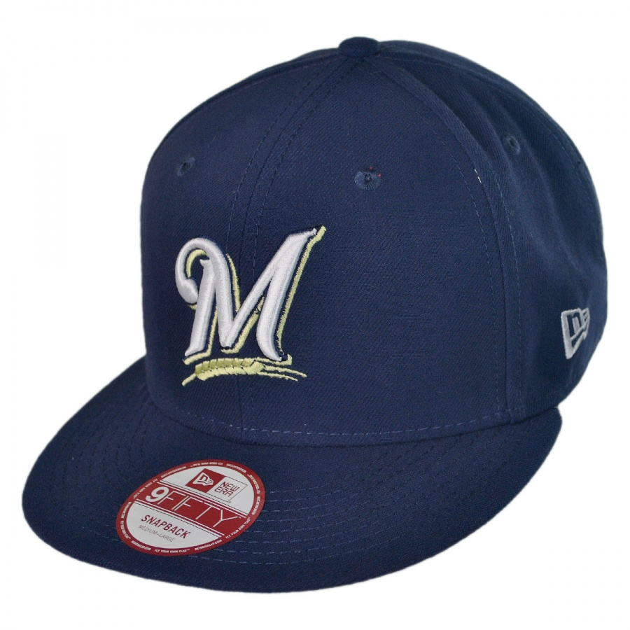 new era milwaukee brewers mlb 9fifty snapback baseball cap. Black Bedroom Furniture Sets. Home Design Ideas