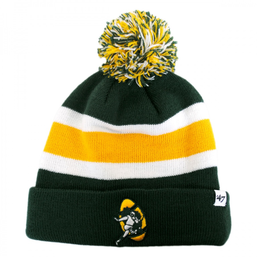 c8f6243e195 ... netherlands 47 brand green bay packers nfl breakaway knit beanie hat  479eb 3c453 ...
