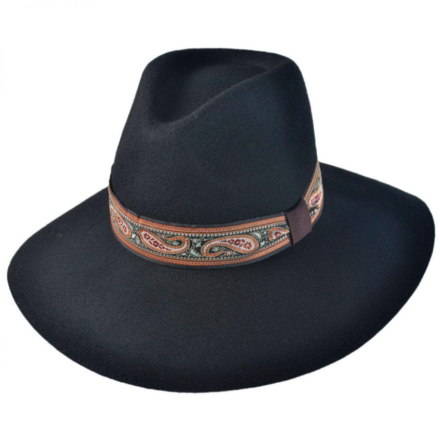 Jeanne Simmons Paisley Wool Felt Floppy Fedora Hat Casual Hats f1ec9ead14f