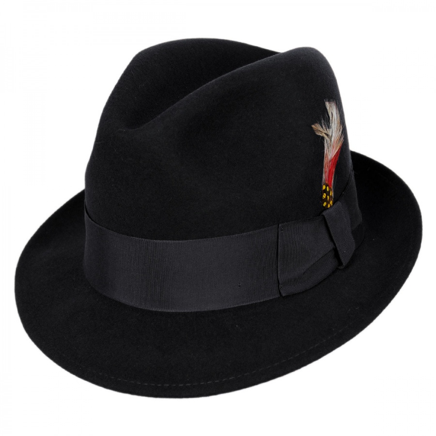 Golden Gate Hat Company Blues Brothers Trilby Fedora Hat Stingy Brim ... 18224ec8863
