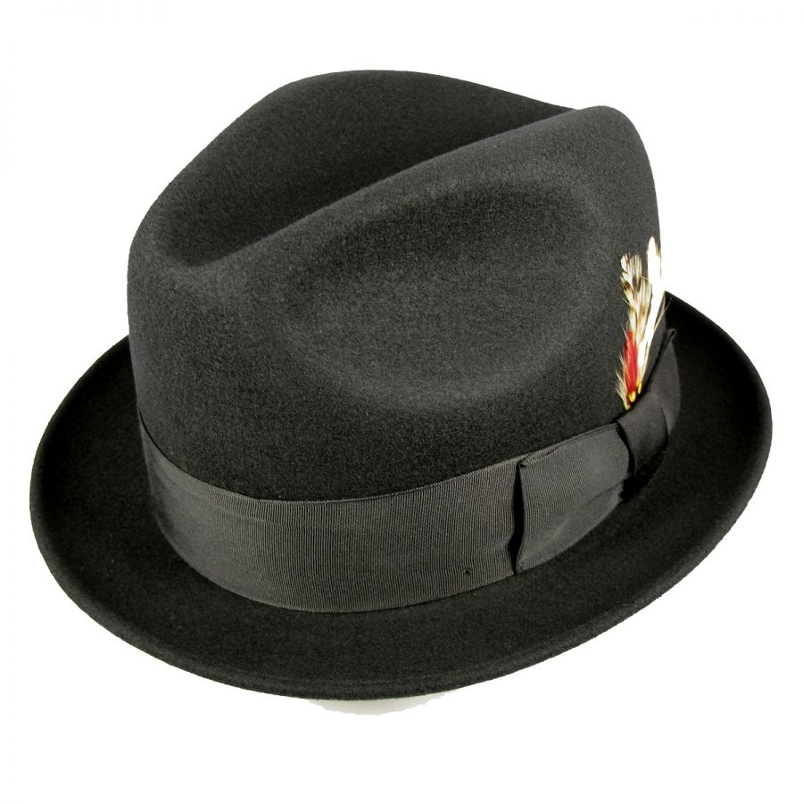 Golden Gate Hat Company Blues Brothers Trilby Fedora Hat Stingy Brim ... c5eee759ccc