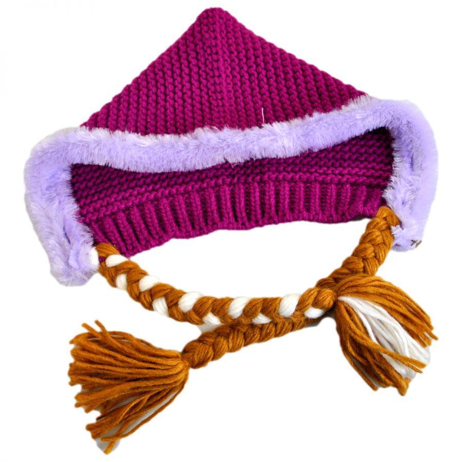 Knitting Pattern For Frozen Hat : Disney Frozen Anna Knit Acrylic Peruvian Beanie Hat Girls