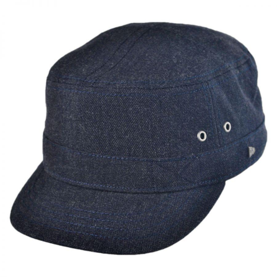 ek collection by new era brimley wool blend military cap cadet caps. Black Bedroom Furniture Sets. Home Design Ideas