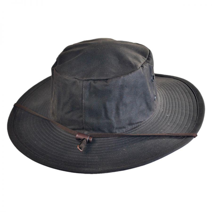 Hills Hats of New Zealand The Squatter Waxed Cotton Booney Hat Rain Hats bb75b9f5c21