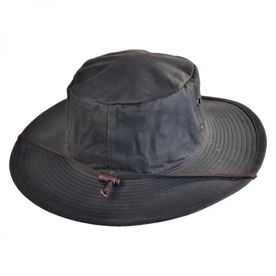 cute cheap for whole family watch The Squatter Waxed Cotton Booney Hat
