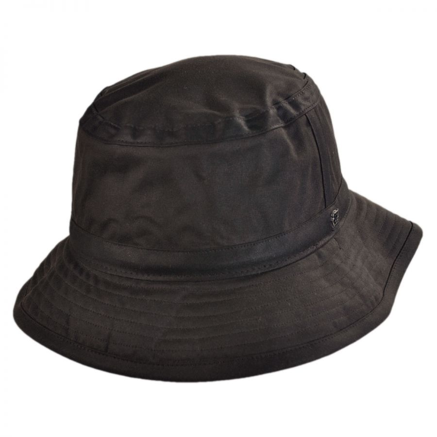 Hills Hats of New Zealand The Storm Waxed Cotton Bucket Hat Rain Hats e22f772fc