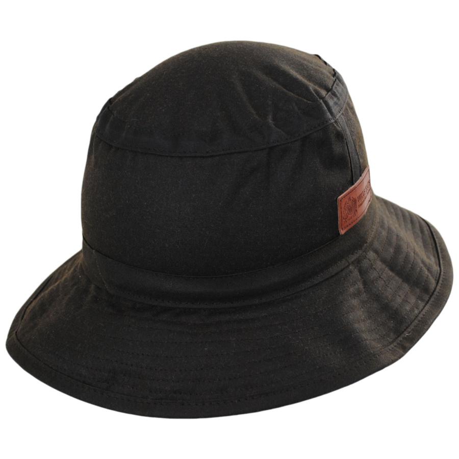 Mens Brown Wax Waterproof Outdoor Bucket Hat