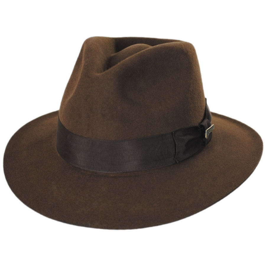 32a57c30 Indiana Jones Officially Licensed Fur Felt Fedora Hat All Fedoras