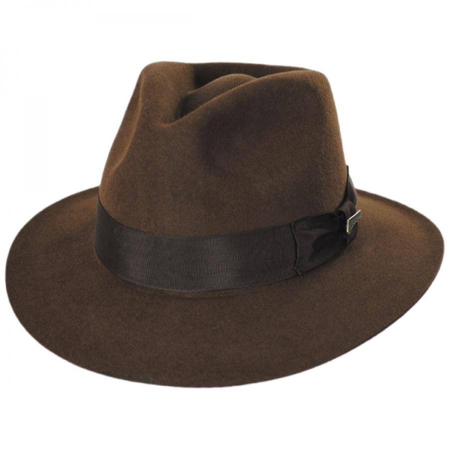cb7500c2a04dd8 ... Indiana Hats: Indiana Jones Officially Licensed Fur Felt Fedora Hat All