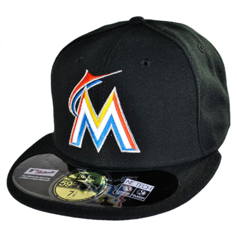 new era miami marlins mlb home 59fifty fitted baseball cap. Black Bedroom Furniture Sets. Home Design Ideas