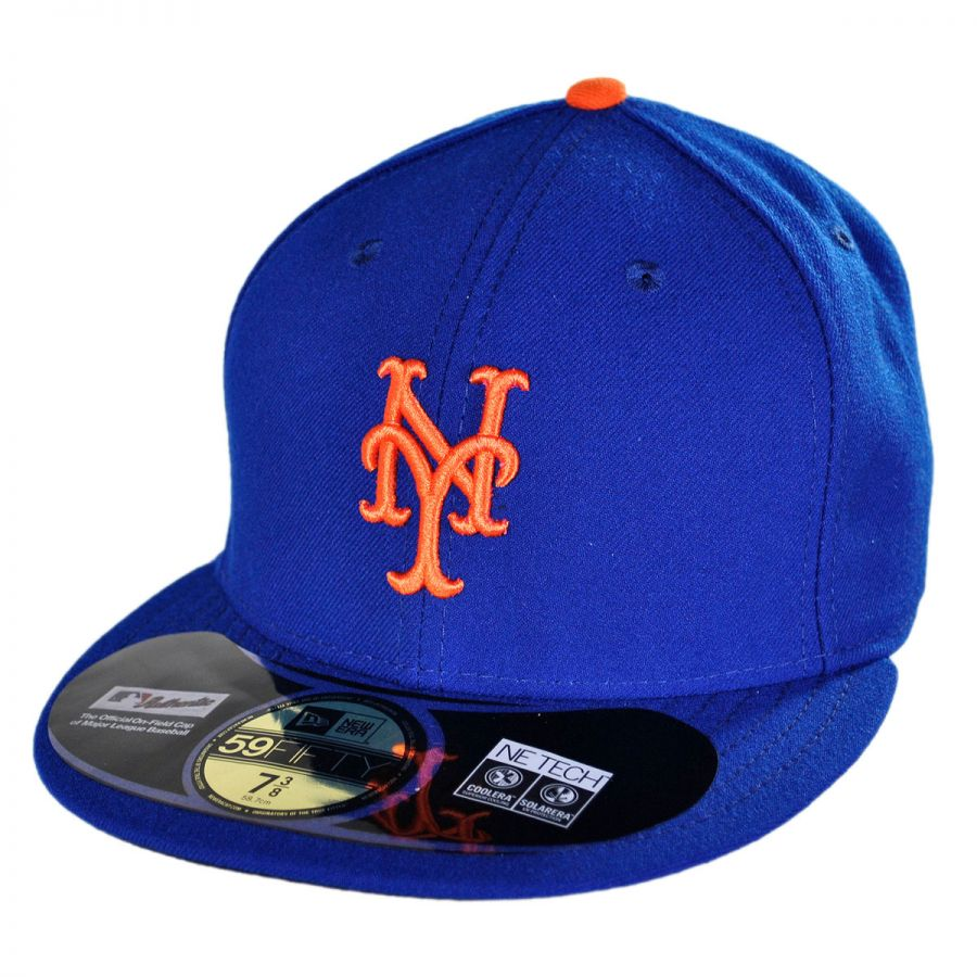 new era new york mets mlb home 59fifty fitted baseball cap. Black Bedroom Furniture Sets. Home Design Ideas