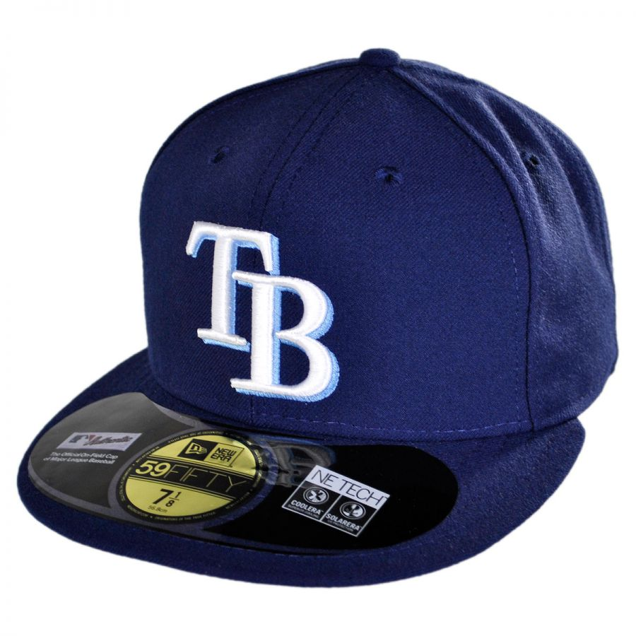 new era tampa bay rays mlb game 59fifty fitted baseball. Black Bedroom Furniture Sets. Home Design Ideas