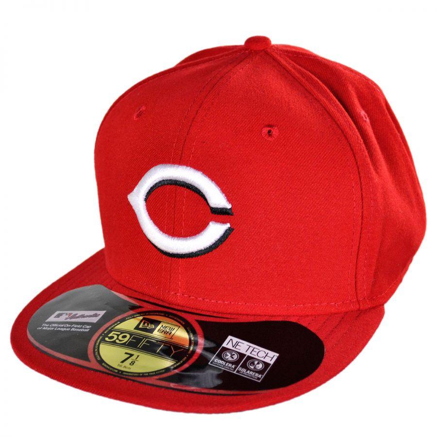 new era cincinnati reds mlb home 5950 fitted baseball cap