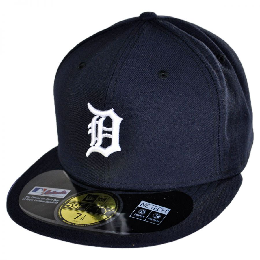 New era detroit tigers mlb home fifty fitted baseball