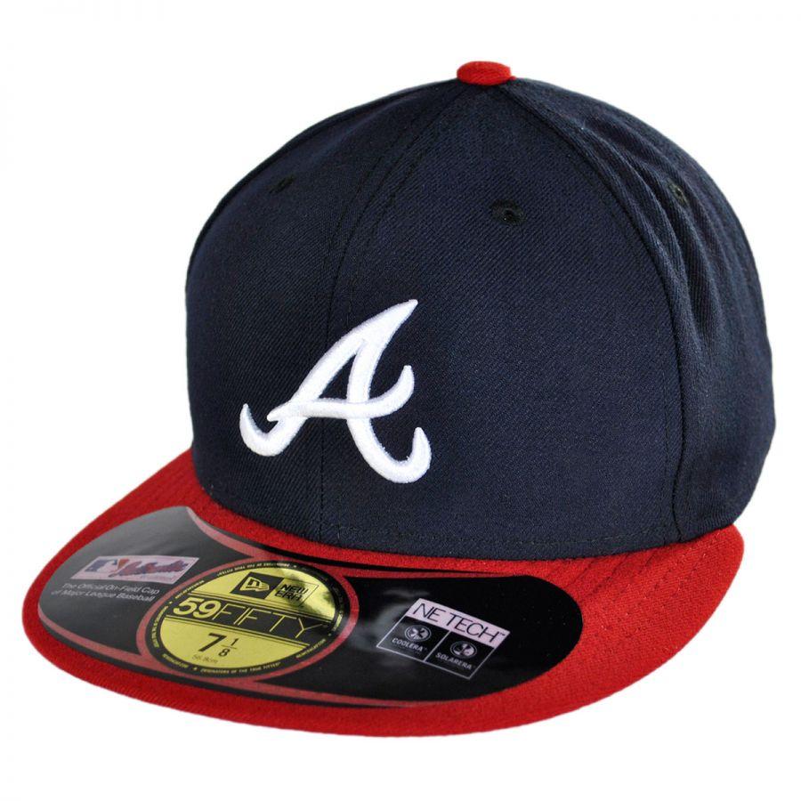 Braves Hats: New Era Atlanta Braves MLB Home 59Fifty Fitted Baseball