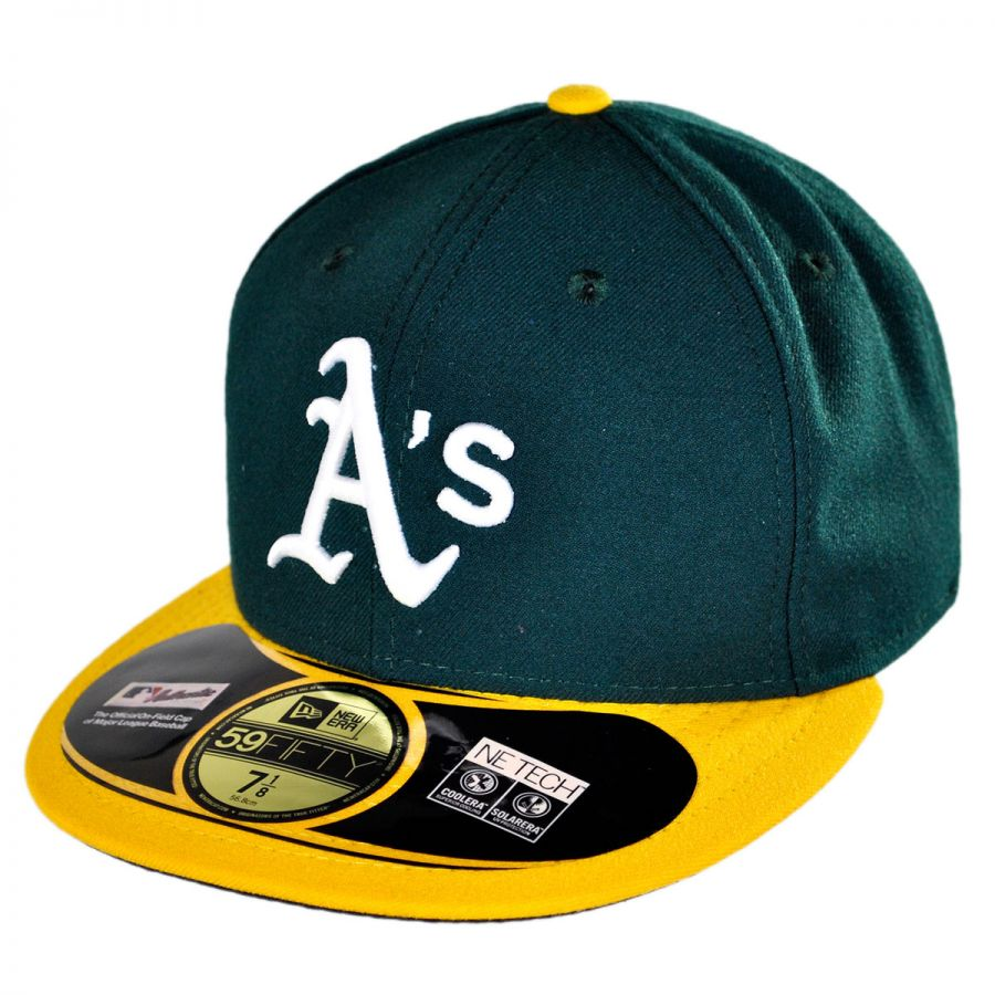 new era oakland athletics mlb home 5950 fitted baseball
