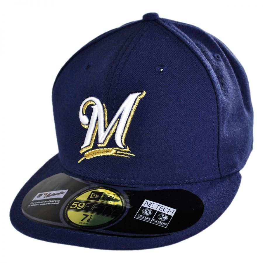 best loved 22f1b 333cd Milwaukee Brewers MLB Game 59Fifty Fitted Baseball Cap alternate view 1