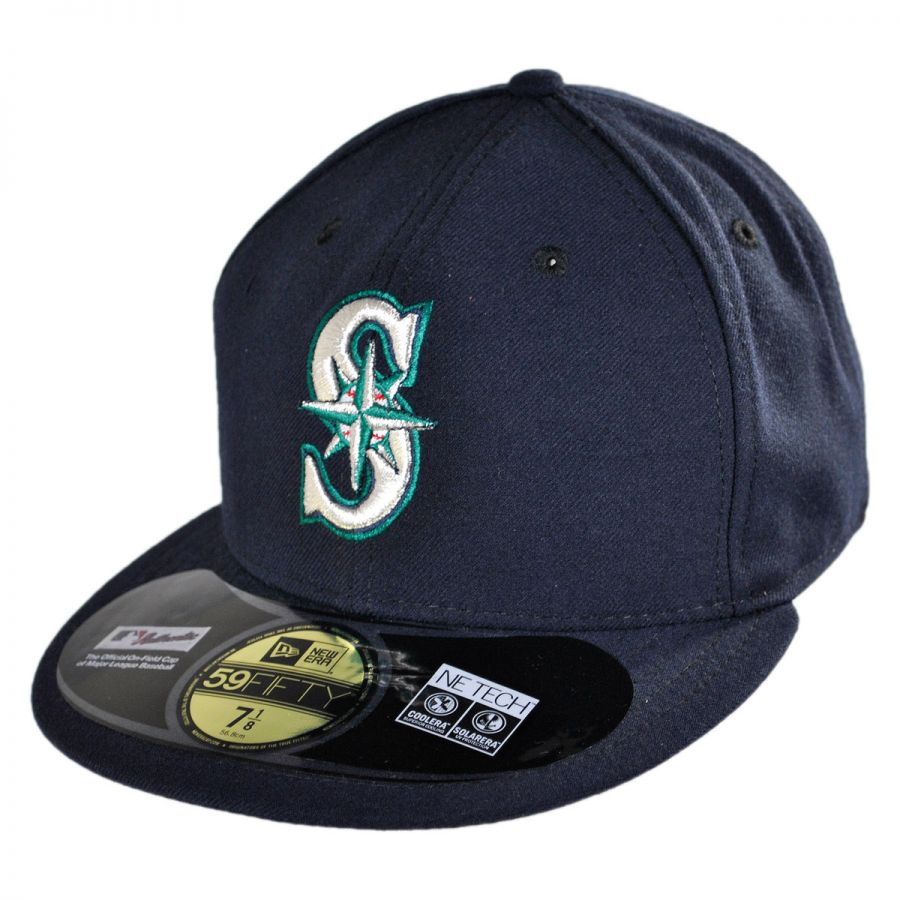 new era seattle mariners mlb game 59fifty fitted baseball. Black Bedroom Furniture Sets. Home Design Ideas
