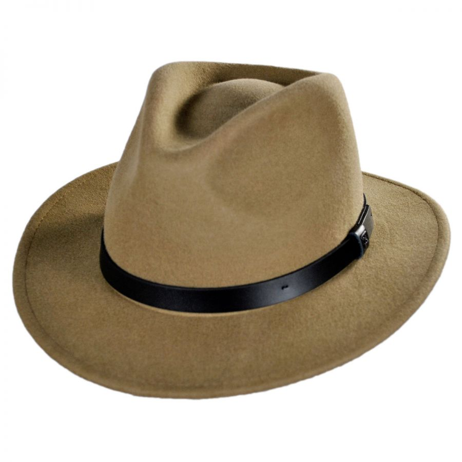 Brixton Hats Messer Wool Felt Fedora Hat All Fedoras 87405fd79e
