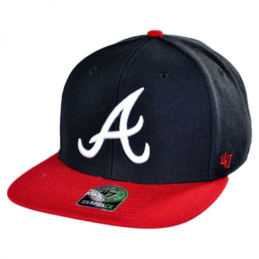 47 brand atlanta braves mlb sure snapback baseball