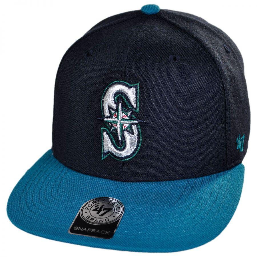 more photos 1c55d 850dd Seattle Mariners MLB Sure Shot Snapback Baseball cap alternate view 1