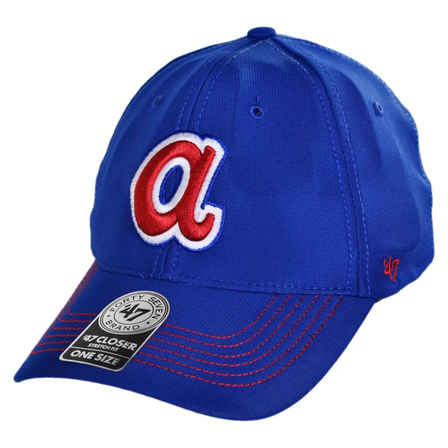 38607835f30 47 Brand Atlanta Braves MLB GT Closer Fitted Baseball Cap MLB ...