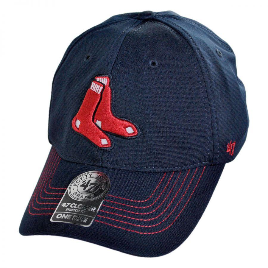 47 Brand Boston Red Sox MLB GT Closer Fitted Baseball Cap MLB Baseball Caps 00a0a8f1e62