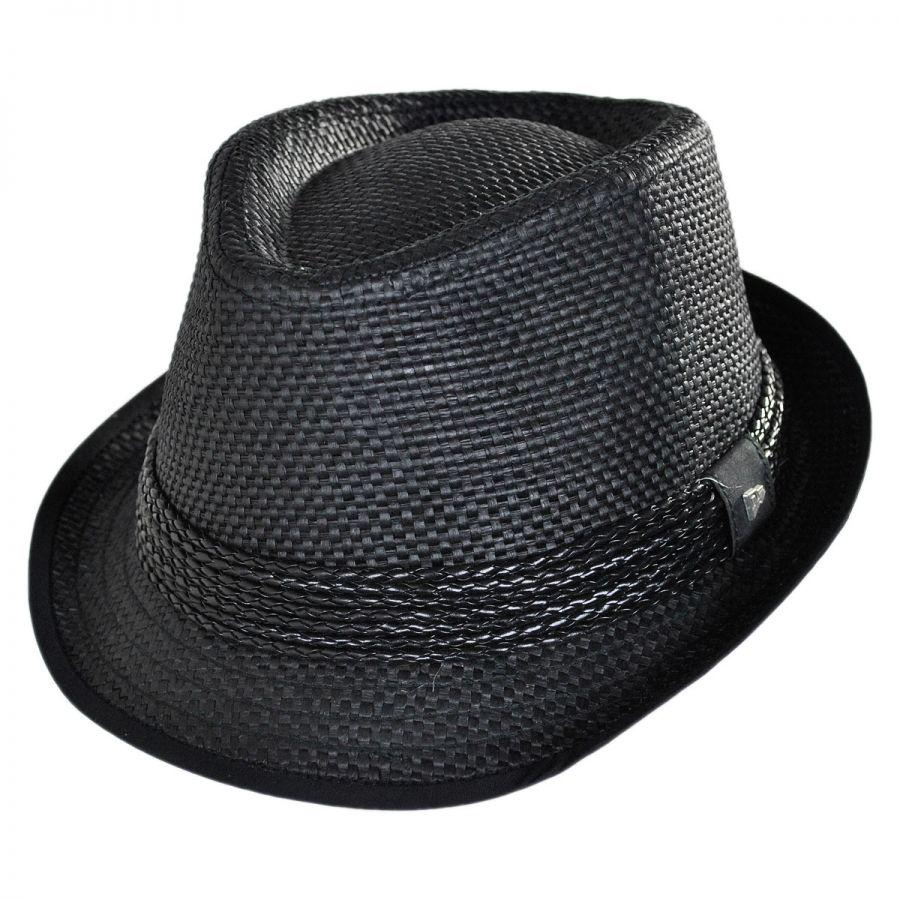 EK Collection by New Era Huxley Toyo Straw Fedora Hat Stingy Brim ... 814789e7f08