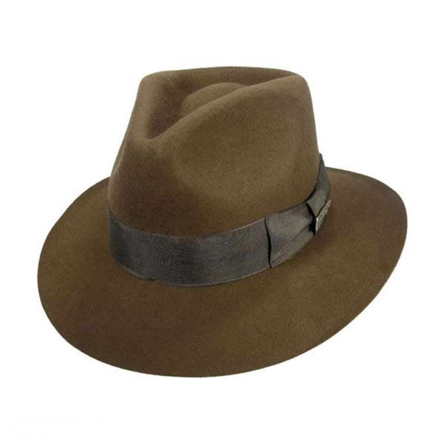 Indiana Jones Officially Licensed Wool Felt Fedora Hat All Fedoras 66607dbedec3