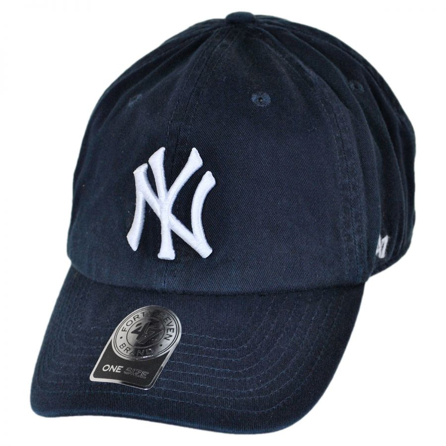61f98b59f09 New York Yankees MLB Home Clean Up Strapback Baseball Cap Dad Hat alternate  view 1