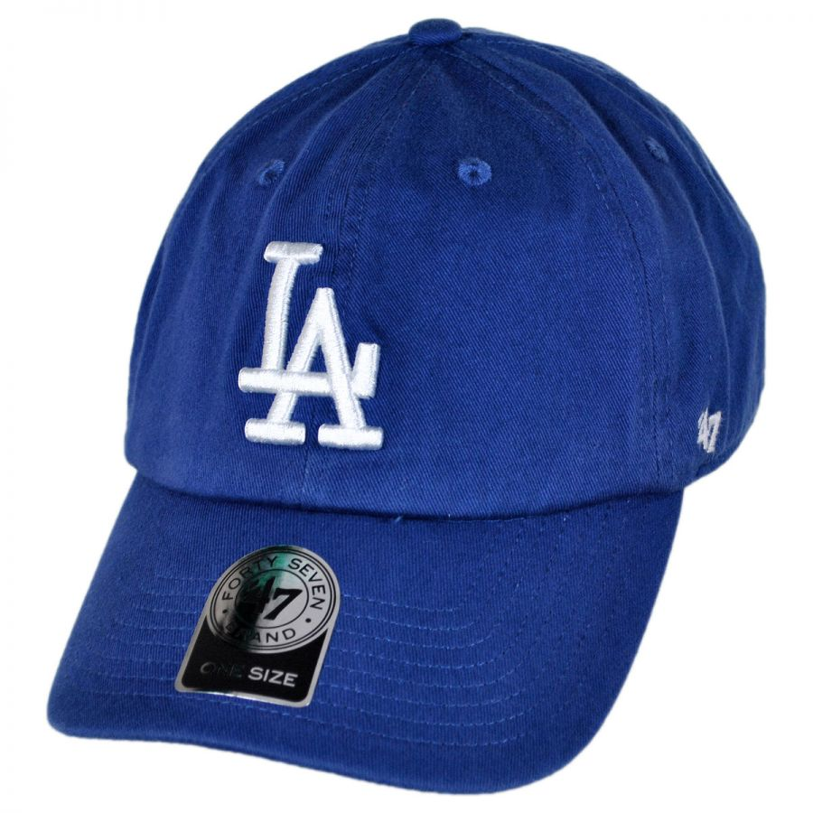 info for 9bc54 7ff86 47 Brand Los Angeles Dodgers MLB Clean Up Strapback Baseball Cap Dad Hat