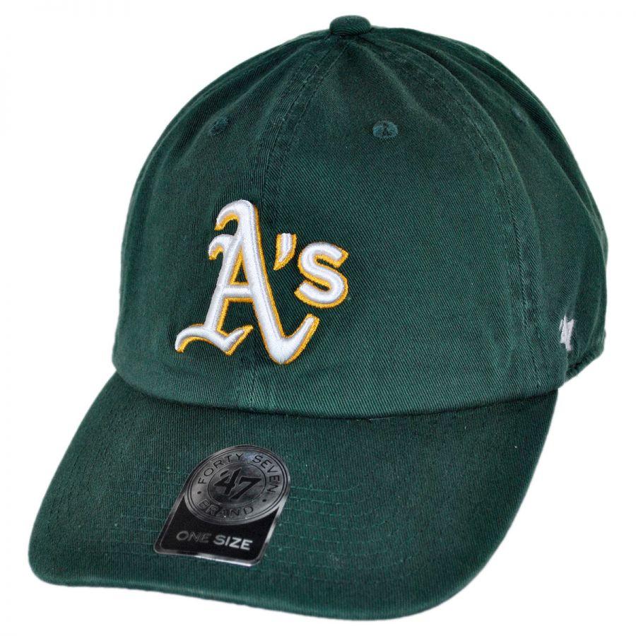 907c6f3bdb0 47 Brand Oakland Athletics MLB Clean Up Strapback Baseball Cap Dad ...