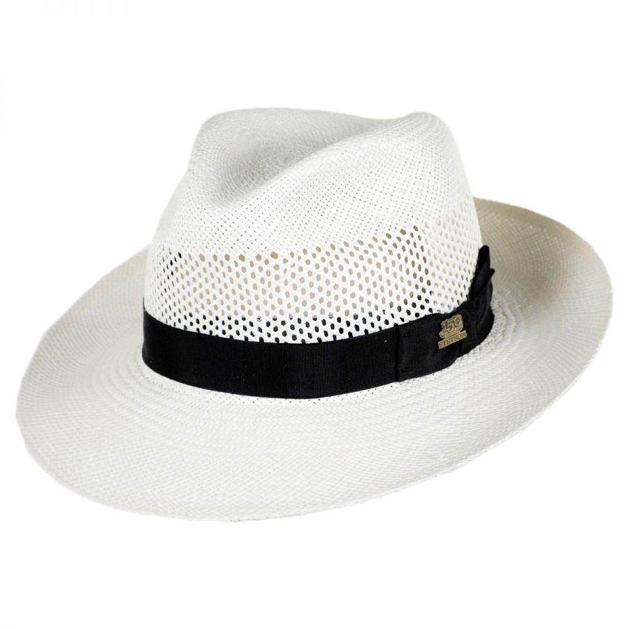 Stetson 150th Anniversary Aviator Panama Straw Fedora Hat . c2252b9f62a4