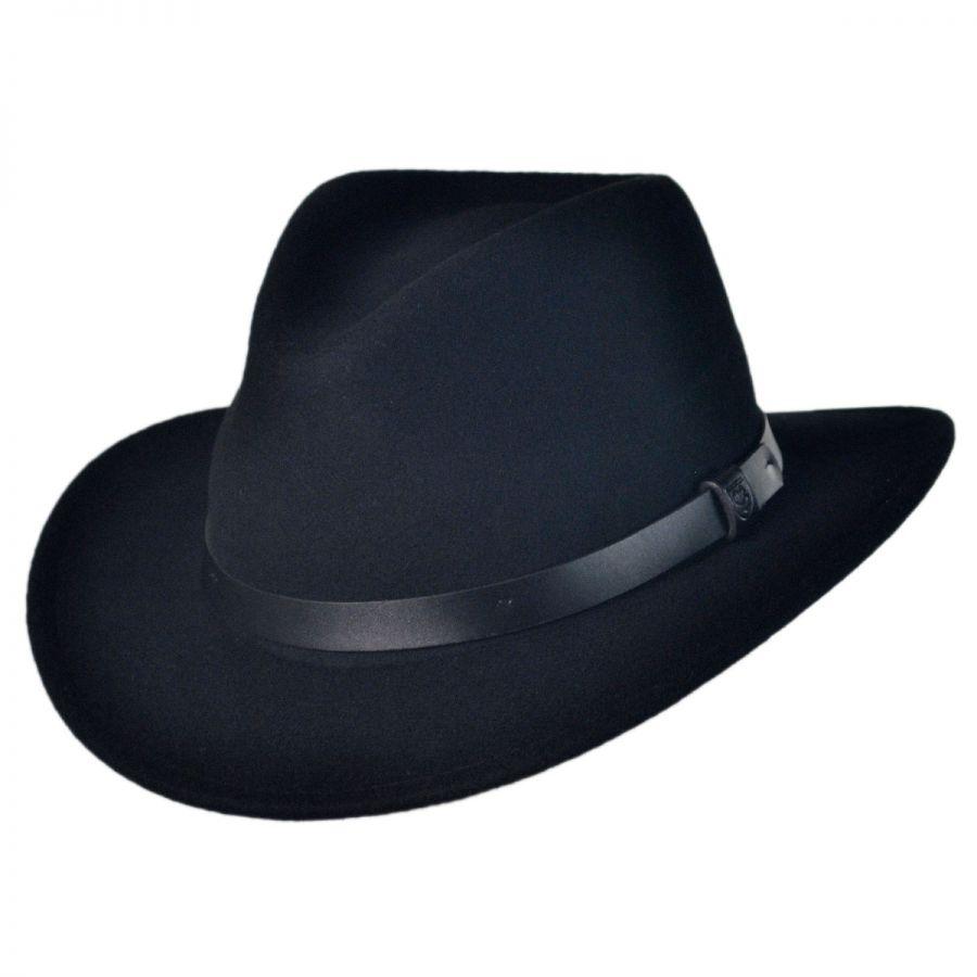 3da2f4d5cfa Brixton Hats Messer Wool Felt Fedora Hat All Fedoras