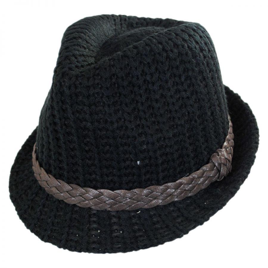Knitting Pattern Trilby Hat : Scala Knit Fedora Hat Fedoras