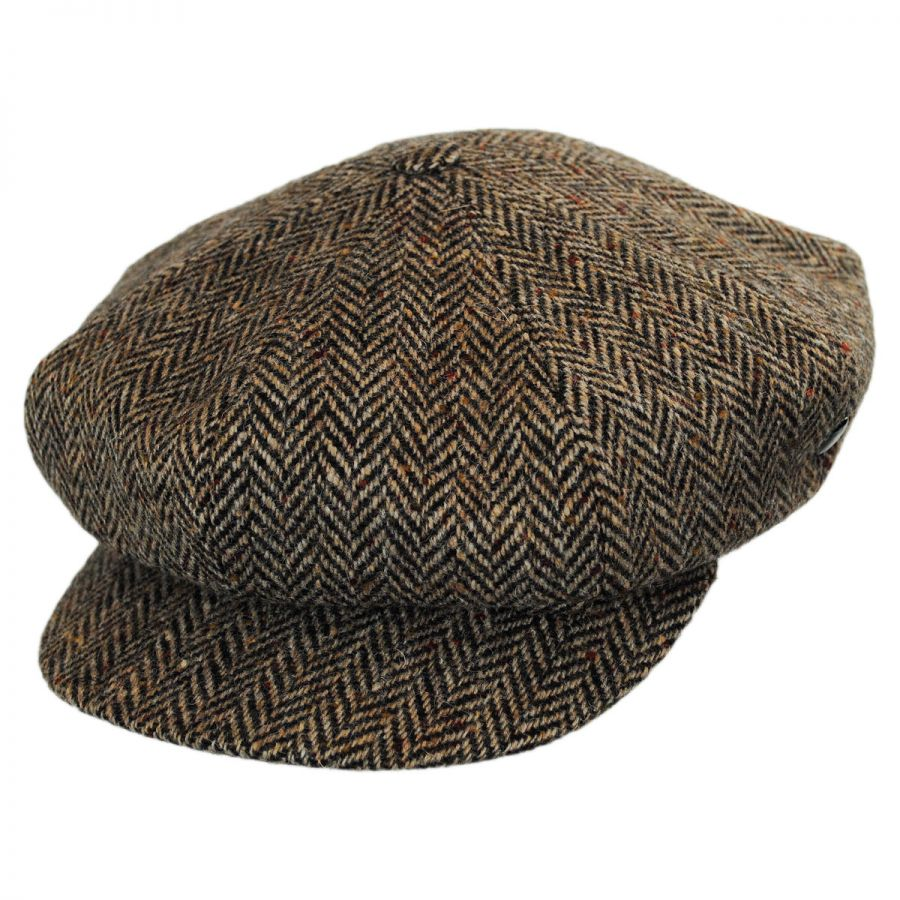 City Sport Caps Herringbone Donegal Tweed Wool Baker Boy Cap Newsboy ... f9b510f8064