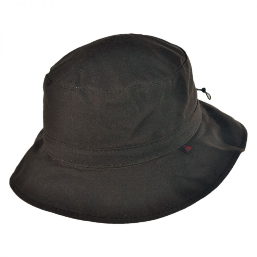 Home Men39;s Hats Bucket Hats Waxed Cotton Bucket Hat