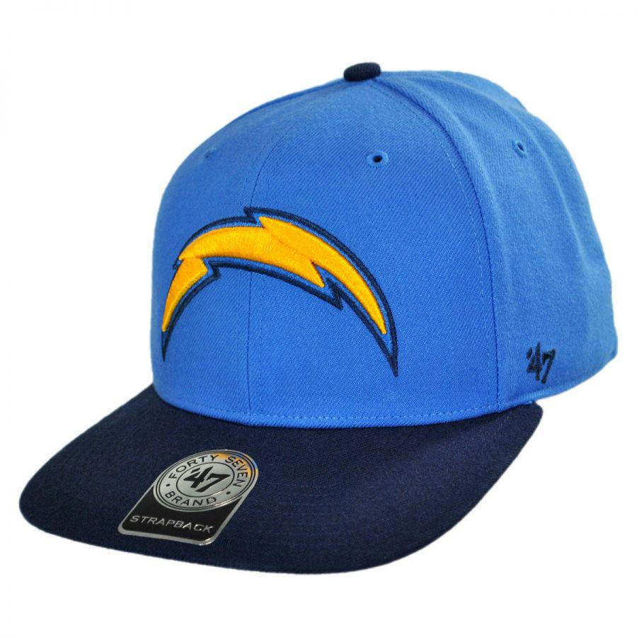 47 Brand Los Angeles Chargers NFL Sure Shot Strapback Baseball Cap ... df5811edc45