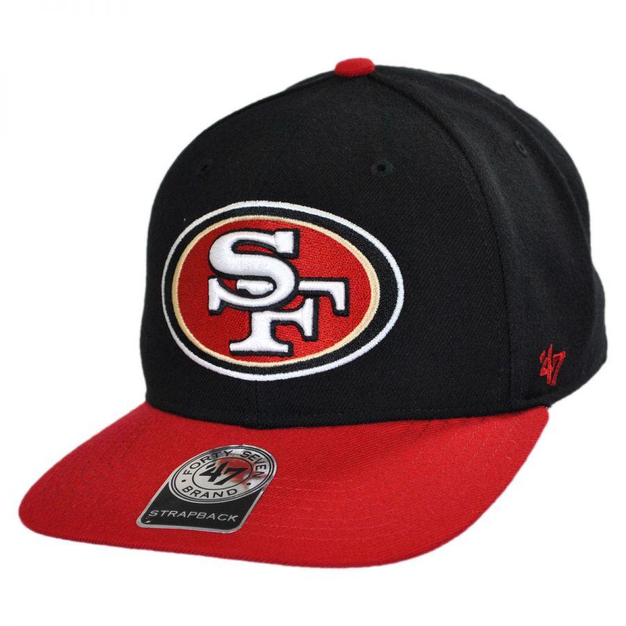 91a83eeb232d5 47 Brand San Francisco 49ers NFL Sure Shot Strapback Baseball Cap Dad Hat  NFL Football Caps