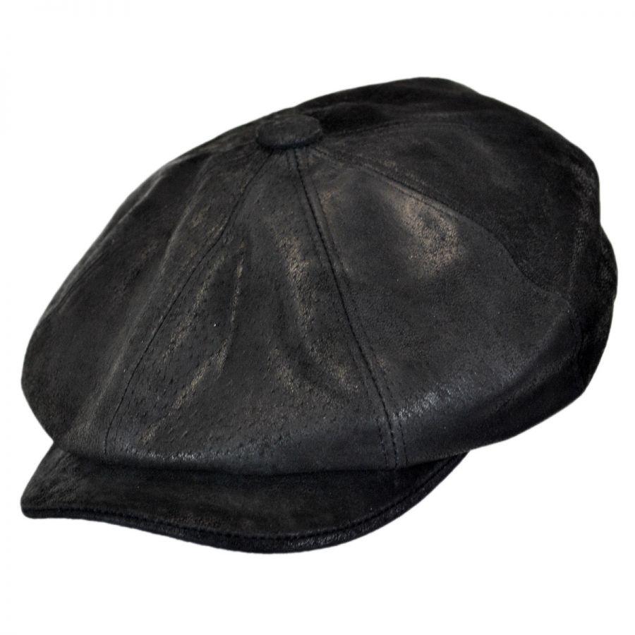 Stetson Rustic Leather Newsboy Cap Newsboy Caps c1022964dde